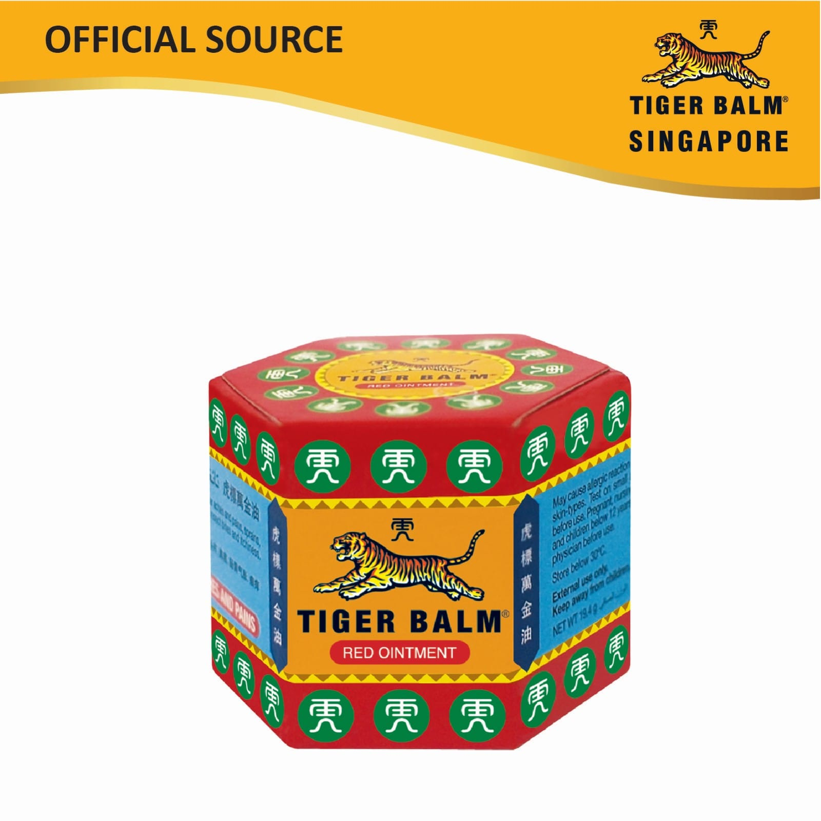 Tiger Balm Red Ointment 19g Cold Storage Singapore