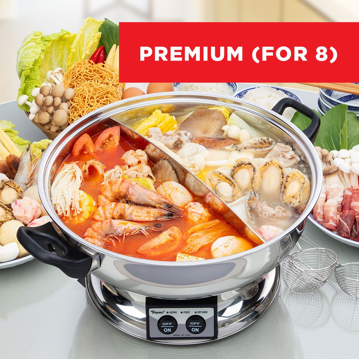 Premium GOOD LUCK Steamboat Bundle (For 8 Pax)