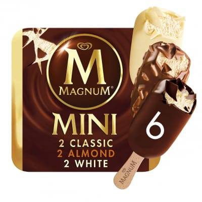 Stick Ice Cream Mini - Classic Almond & White 6sX60ml