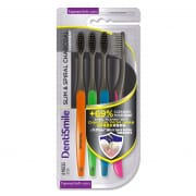 Charcoal Toothbrush Tapered Soft Slim & Sprial 4s