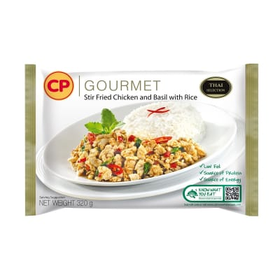 CP Stir Fried Chicken & Basil W/ Rice 320g