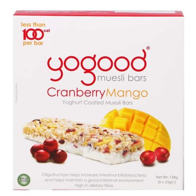 Muesli Bar Yoghurt Coated - Cranberry & Mango 6sX23g