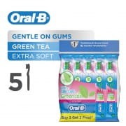 ORAL B UltraThin Green Tea Gum Care (Extra Soft) Toothbrush 5s