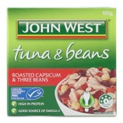 Tuna & Beans Roasted Capsicum & Three Beans 185g