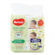 Clean Care Baby Wipes 3X80s