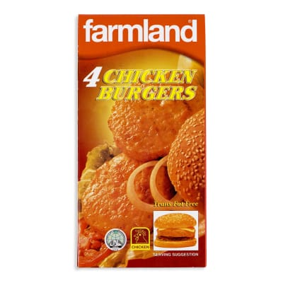 FARMLAND Burger Patties - Chicken 4s 227g