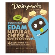 Edam Natural Cheese & Rice Crackers 4s