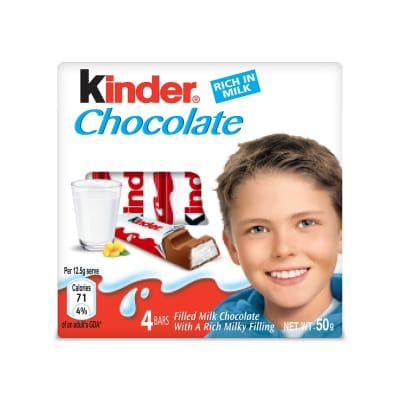 KINDER Chocolate Bars Rich In Milk T4 50g