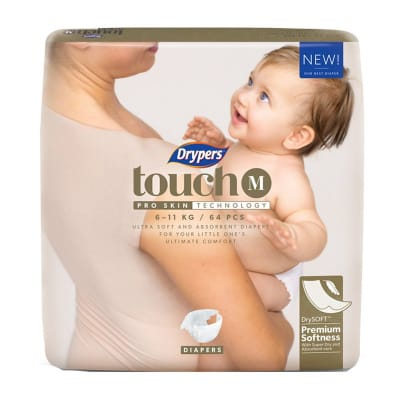 DRYPERS Touch Diapers M 64s 6-11kg