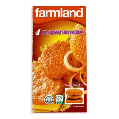 FARMLAND Beef Patties Hamburger 4s 227g