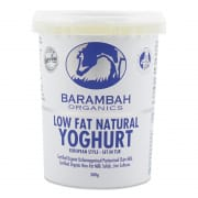 BARAMBAH ORGANICS Low Fat Natural Organics Yoghurt 500g