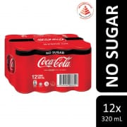 Coke No Sugar 12sX320ml