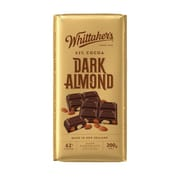 Dark Almond Chocolate Block 200g