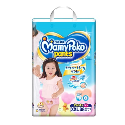 Extra Dry Pants Diapers (Girls) XXL 38s 15-25kg