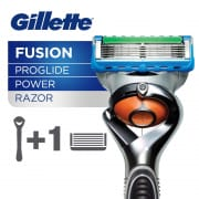 GILLETTE fusion proglide power mens razor handle 1 blade refill