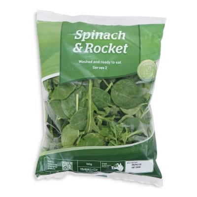 HUSSEY Baby Spinach and Rocket Australia 100g