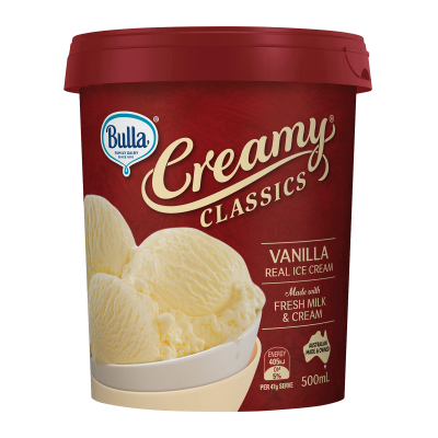 Creamy Classics Vanilla Ice Cream 500ml