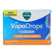 VICKS Vapodrops Orange Menthol 16s