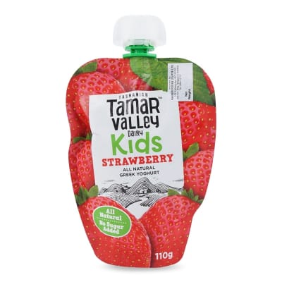 Kids Natural Greek Yoghurt Pouch Strawberry 110g