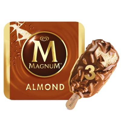MAGNUM Stick Ice Cream - Almond 3sX110ml