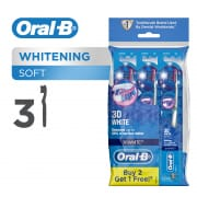 ORAL B 3d white soft manual toothbrush 3 count polybag