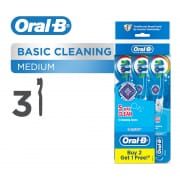 ORAL B complete 5 way clean medium manual toothbrush 3 count