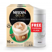 White Espresso 2sX10s With Thermal Flask