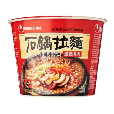 Korean Claypot Ramyun Big Bowl Noodles 117g