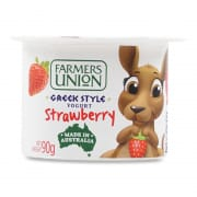 FARMERS UNION Greek Style Yogurt Strawberry 90g