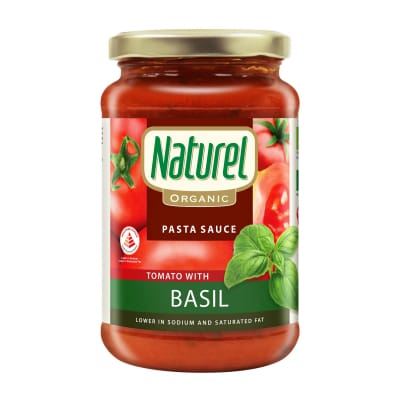 NATUREL Seasoning Organic Tomato with Basil Pasta Sauce 340g