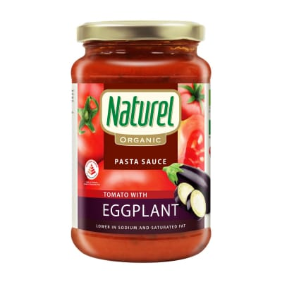 NATUREL Seasoning Organic Pasta Sauce Tomato with Eggplant 340g