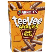 Chocolate Tee Vee Snacks Malt Sticks 175g
