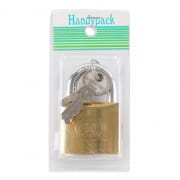 Padlock Brass Tri-Circle 50mm 3350