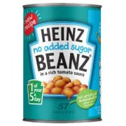 Baked Beans in Tomato Sauce No Sugar Added 415g