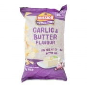 Tortilla Chips Garlic & Butter 65g