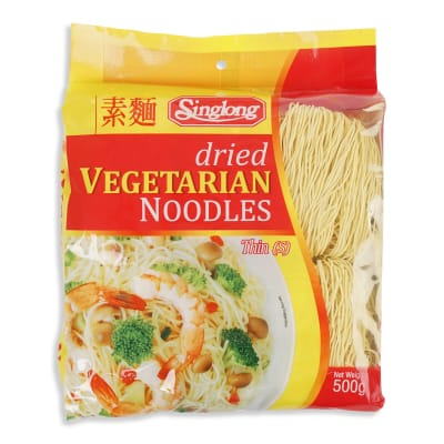 SING LONG Dried Vegetarian Noodles (Thin) 500g