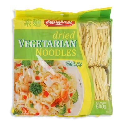 SING LONG Dried Vegetarian Noodles (Thick) 500g