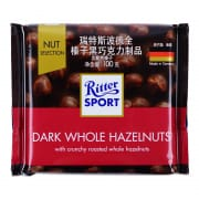 Dark Chocolate W/ Whole Hazelnuts 100g