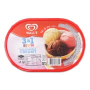 Ice Cream Tub - 3 In 1 Neapolitan 1.5L