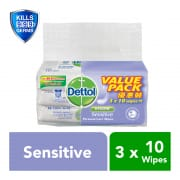 Anti-Bacterial Sensitive Wet Wipes 3X10 Sheets