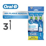 ORAL B pro health anti bacterial soft manual toothbrush 3s polybag