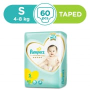 PAMPERS Premium Care Tape Diapers S 60s (4-8kg)