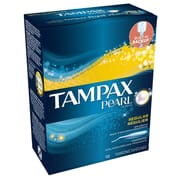 Pearl Plastic Unscented Regular Tampon 18s