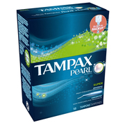 Pearl Plastic Unscented Super Tampons 18s