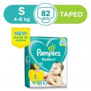 PAMPERS Baby Dry Tapes Diapers S 82s 4-8kg