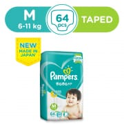 Baby Dry Tapes Diapers M 64s 6-11kg