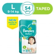 Baby Dry Tapes Diapers L 54s 9-14kg
