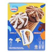 Drumstick Vanilla & Chocolate Multipack Ice Cream 4sX110ml