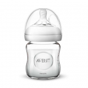 120ml Natural Glass Feeding Bottle