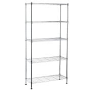 5 Tier Chrome Rack W90 X D35 X H179cm